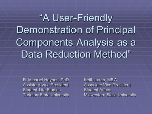 A User-Friendly Demonstration of Principal Components Analysis as