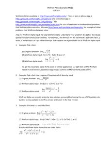 Wolfram Statistics Solutions