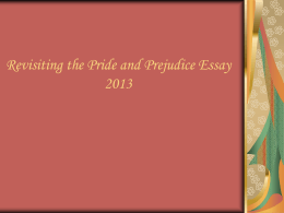 Pride And Prejudice Powerpoint Essay Prompt Breakdown And Tips