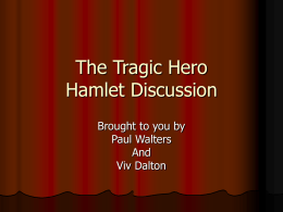 a discussion of the tragedy in hamlet
