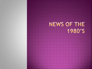 News of The 1980*s - Beavercreek City School District