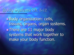 Body Systems Ch. 8-12