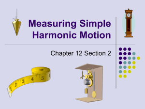 Measuring Simple Harmonic Motion