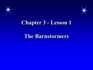 Chapter 3 - Lesson 1 The Barnstormers The Barnstormers