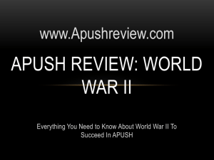 APUSH Review, World War II