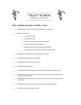 Dead Words Checklist