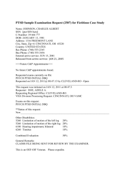 TBI - VA Form 21-2507 * Request for Examination