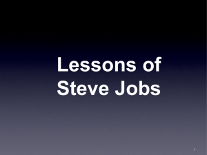 Lessons of Steve Jobs