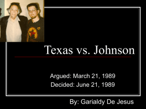 Texas vs. Johnson - SCOTUS-Case