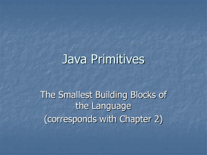 Java Primitives