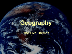 5 Themes of Geography PPP