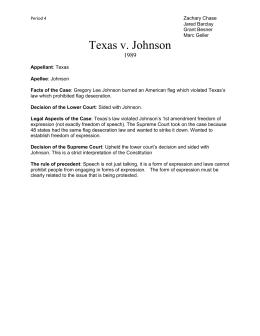 texas vs johnson