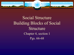 Social Structure Building Blocks of Social Structure