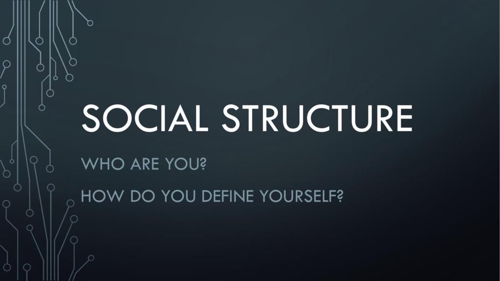social structure - Montville Township School District