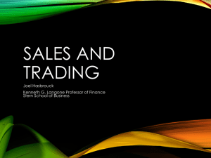 Sales and Trading - New York University