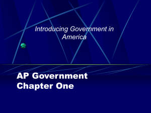 Advanced Placement Government Chapter One