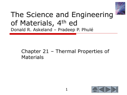The Science and Engineering of Materials, 4th ed Donald R. Askeland