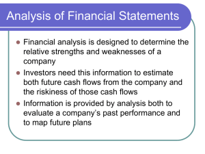 Analysis of Financial Statements PPT