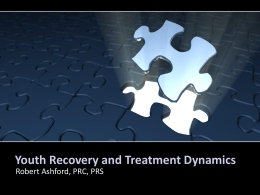 Youth Recovery and Treatment Dynamics