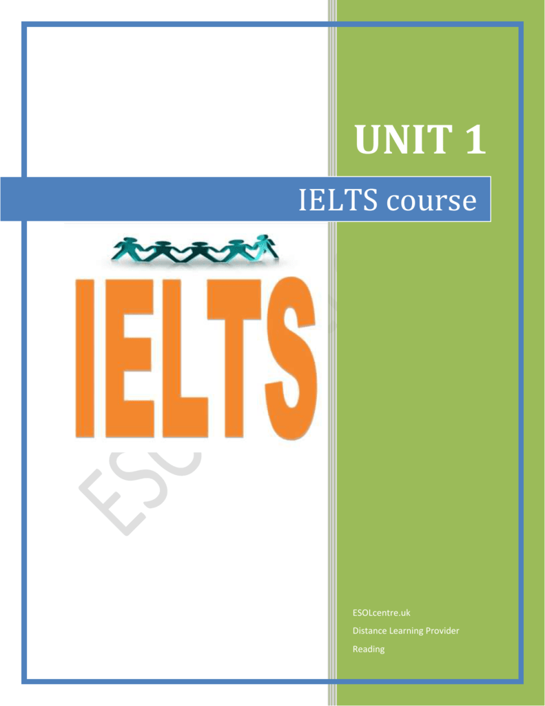Academic and General Training Reading tests - ESOL centre