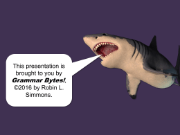 Word Choice - Grammar Bytes!