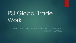 PSI Global Trade Work