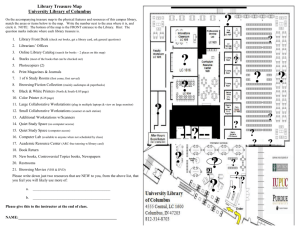 Library Treasure Map Activity