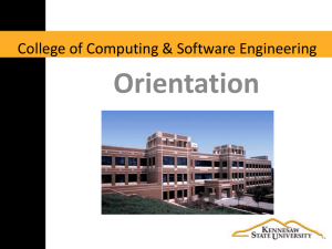 Freshmen - College of Computing and Software Engineering