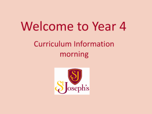 142 kB 3rd Oct 2015 CURRICULUM EVENING (Year 4)