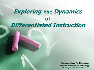 Exploring the Dynamics of Differentiated Instruction