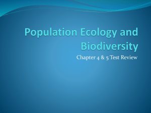 Population Ecology and Biodiversity