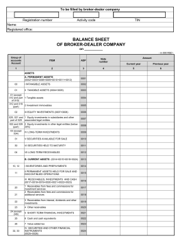 balance sheet of broker