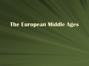 The European Middle Ages