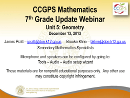 Co - Georgia Mathematics Educator Forum: Grades 6-8