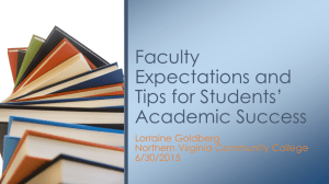 Faculty Expectations and Tips - Northern Virginia Community College
