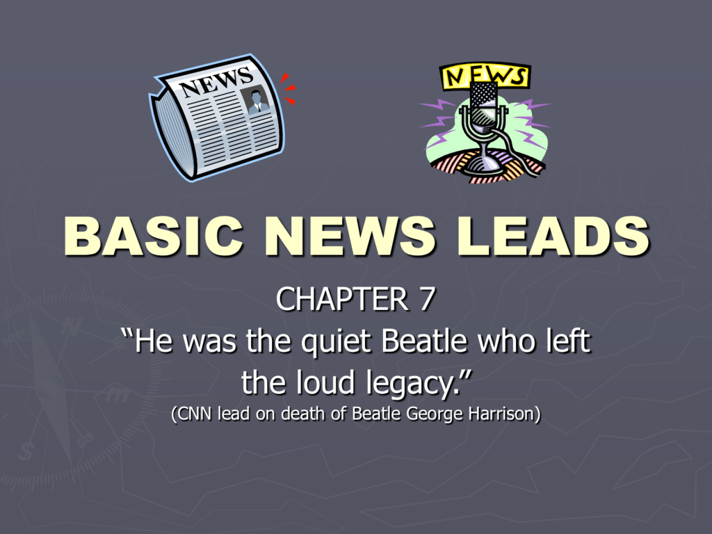 news lead
