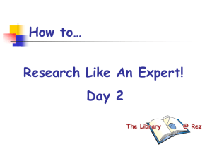 how to research like an expert