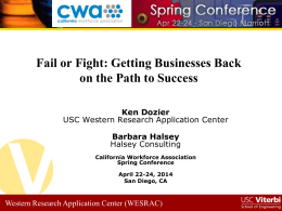 Barbara Halsey - California Workforce Association
