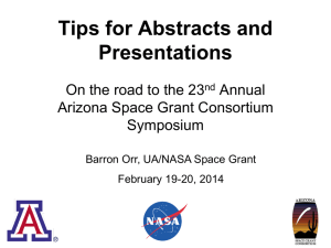 Symposium Tips Presentation - Arizona Space Grant Consortium