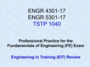 FE) Exam Information Sheet - California State University