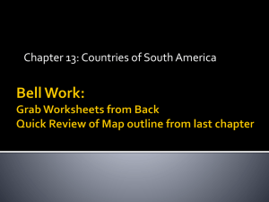 Bell Work: Grab Worksheets from Back Quick Review of Map outline