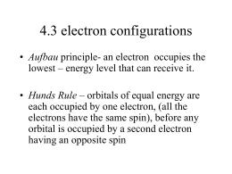 Electron Configuration Notes Sheet