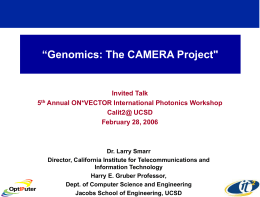 ppt - California Institute for Telecommunications and Information