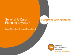 DMI Care Planning slide pack 2014
