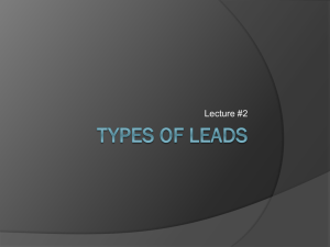 Types of Leads - Perry Local Schools