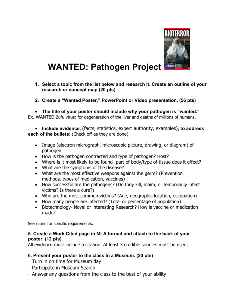 Wanted Pathogen Project