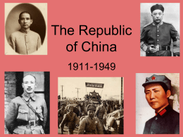 The Republic of China Powerpoint Notes