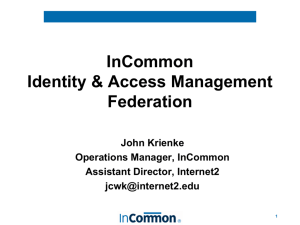 Identity & Access Managment Federations