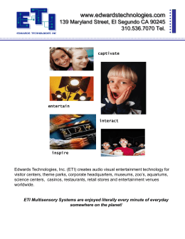 ETI Multisensory Systems are enjoyed literally