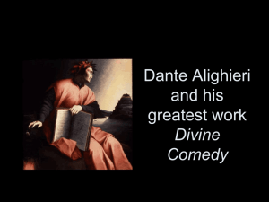 Dante Alighieri and his greatest work Divine Comedy2010